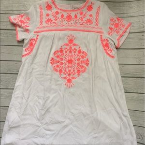 Little White Lies-white dress pink embroidery-med